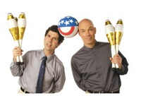 Best agent and agency for booking and hiring comedian jugglers and comedy juggling acts like The Raspyni Brothers