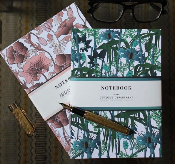 The Curious Department Beautiful set of notebooks
