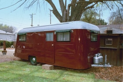 photos of vintage travel trailers