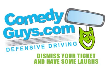 comedy guys defensive driving logo dismiss your ticket and have some laughs