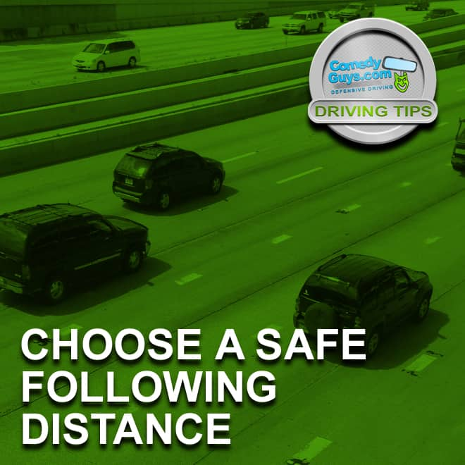 defensive driving tips safe following distance