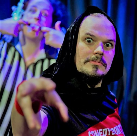 comedysportz improvised pantomime shows festive fun
