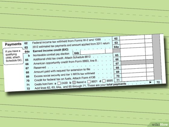 Immagine titolata Fill out IRS Form 1040 Step 13