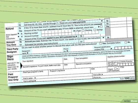 Immagine titolata Fill out IRS Form 1040 Step 14
