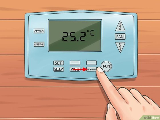 Immagine titolata Set a Thermostat Step 10