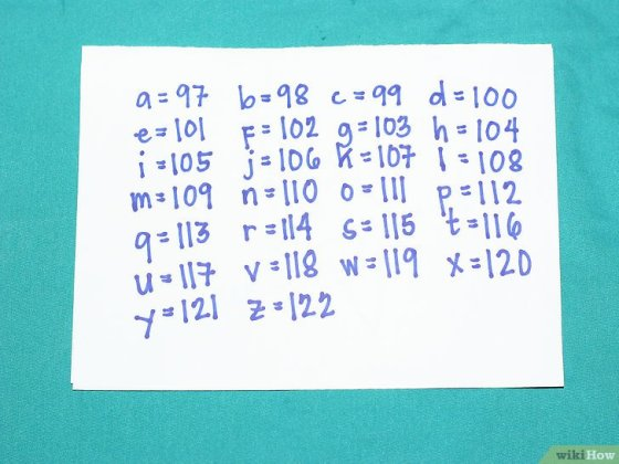 Immagine titolata Write Capital and Lowercase Letters in Binary Step 3