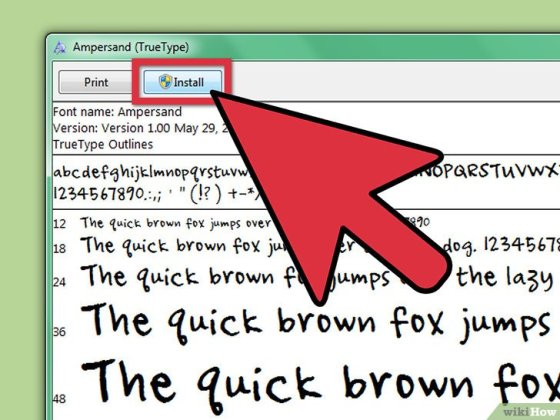Immagine titolata Install Fonts on Your PC Step 2