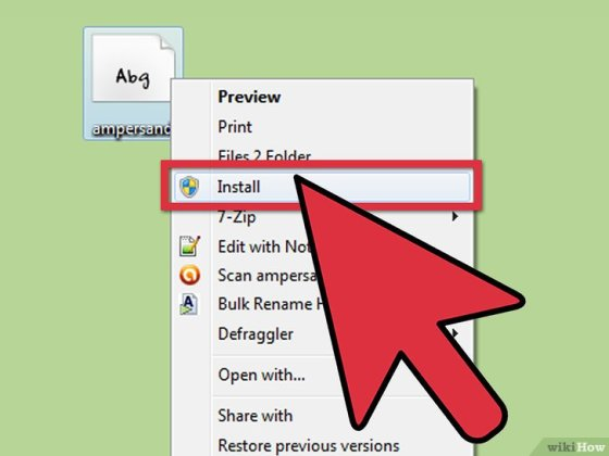 Immagine titolata Install Fonts on Your PC Step 4