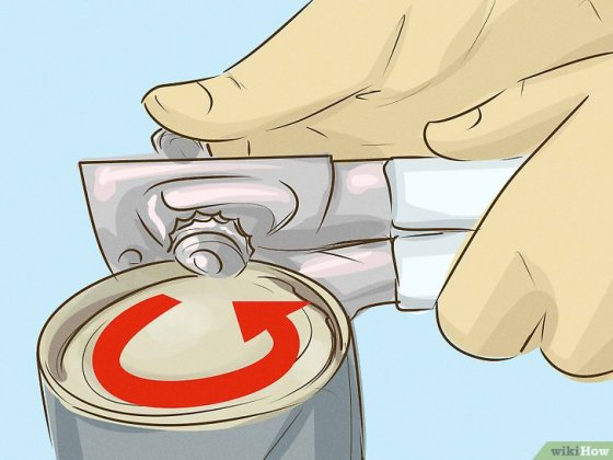 Immagine titolata Use a Can Opener Step 4