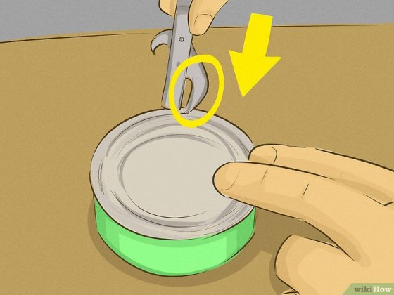 Immagine titolata Use a Can Opener Step 9