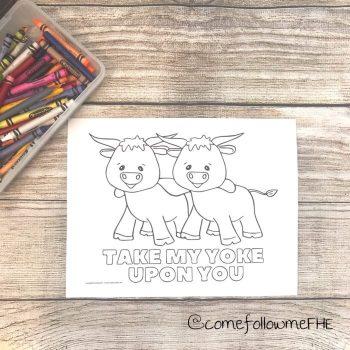 yoke upon you color page