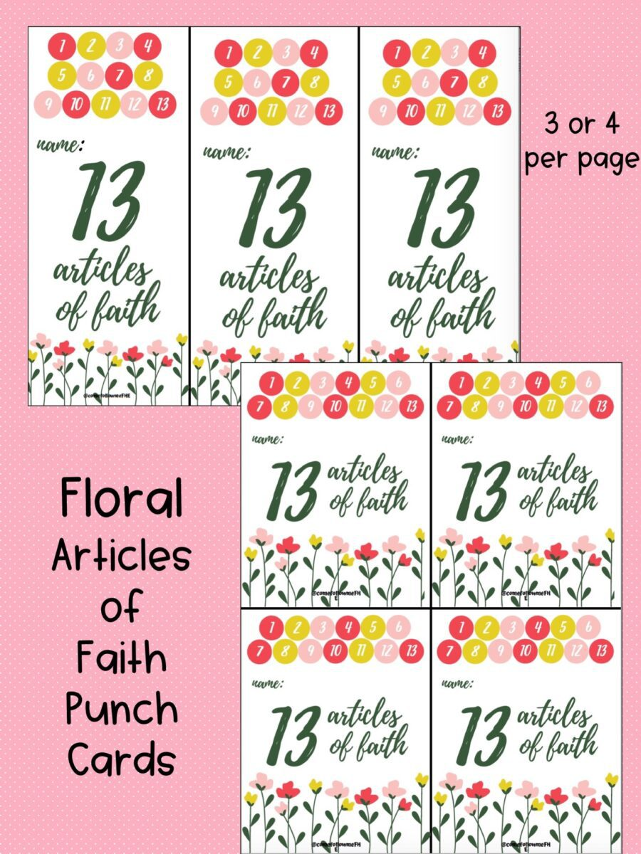 photograph relating to 13 Articles of Faith Printable named Items Appear Adhere to Me FHE