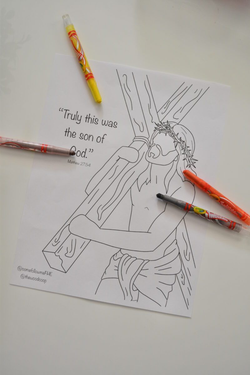 jesus christ coloring page – come follow me fhe