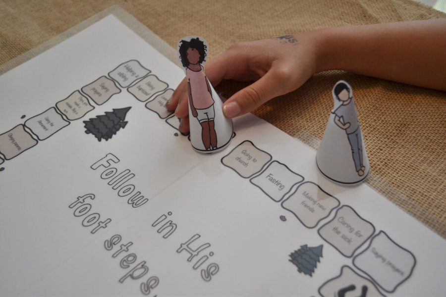 Follow in His Footsteps board game for kids