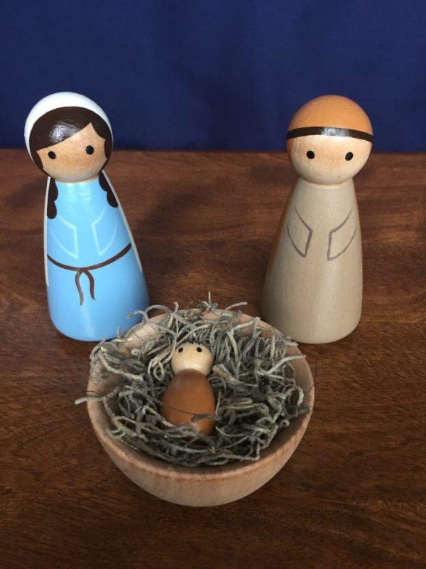 Holy Family Peg Set