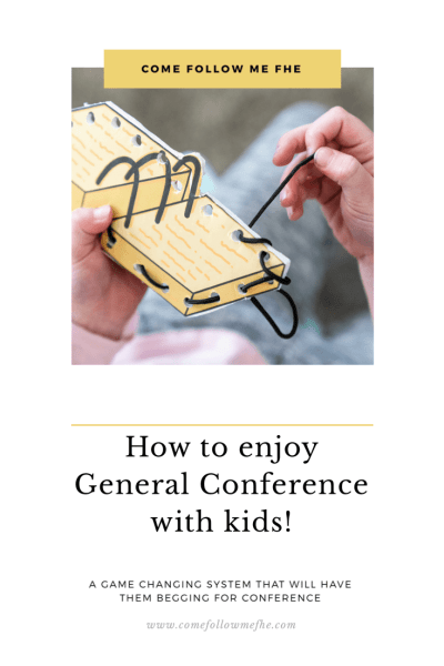 How to enjoy General Conference with Kids, tips shared by Come Follow Me FHE.