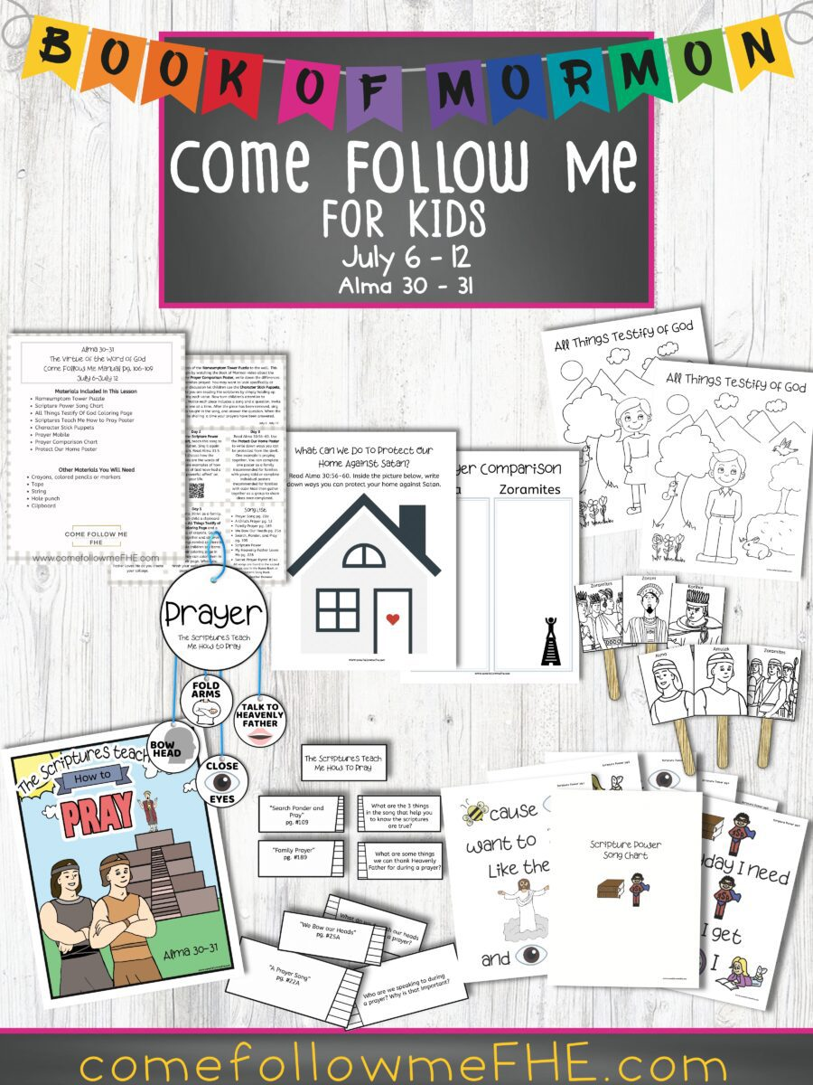 "July 6 - July 12 Come Follow Me Lesson for Kids, ""The Virtue of the Word of God"" by Come Follow Me FHE"