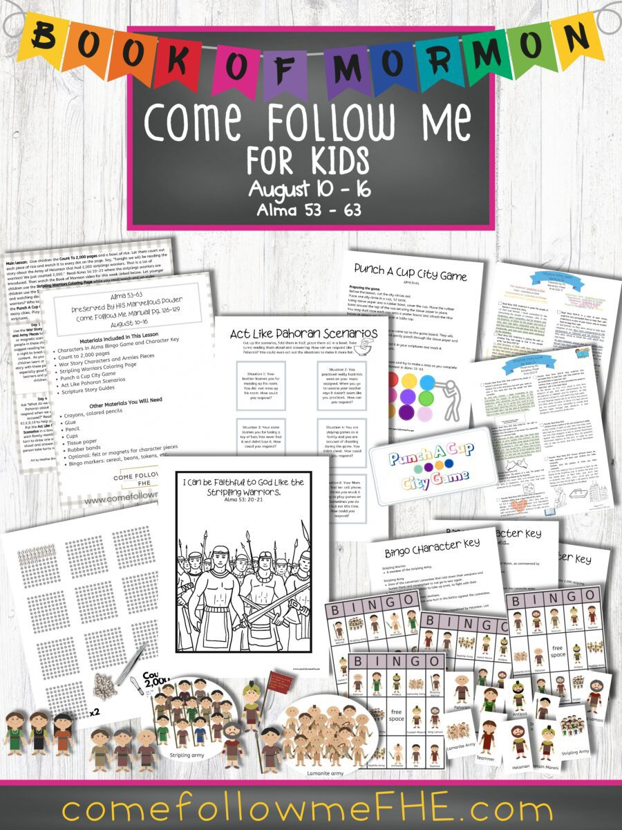 August 10 - August 16 Come Follow Me Lesson for Kids: Preserved by His Marvelous Power featured by Come Follow Me FHE