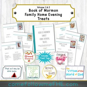 12 Creative Book of Mormon Treats with Tags featured by Come Follow Me FHE