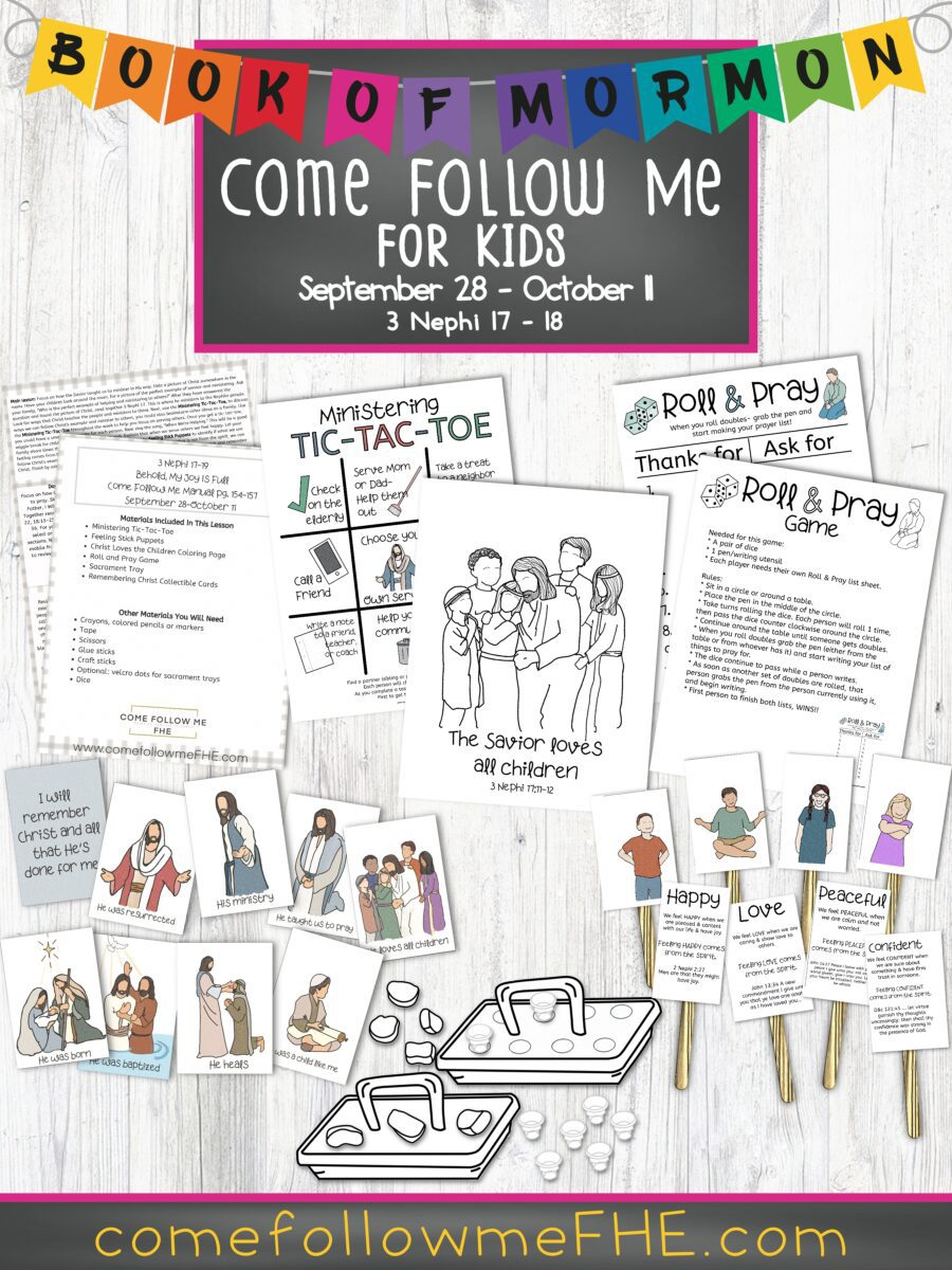 September 28 - October 11 Come Follow Me Lesson for Kids: Behold, My Joy is Full by Come Follow Me FHE