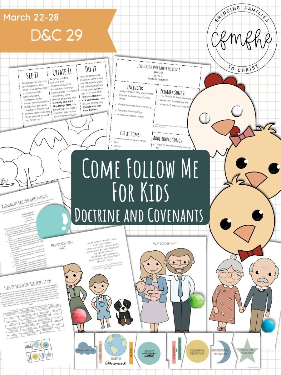March 22 - March 28 Come Follow Me Lesson for Kids: Jesus Will Gather His People featured by Come Follow Me FHE