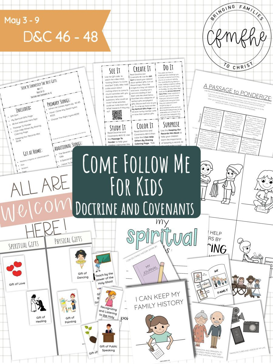 May 3 - May 9 Come Follow Me Lesson for Kids: Seek Ye Earnestly The Best Gifts by Come Follow Me FHE