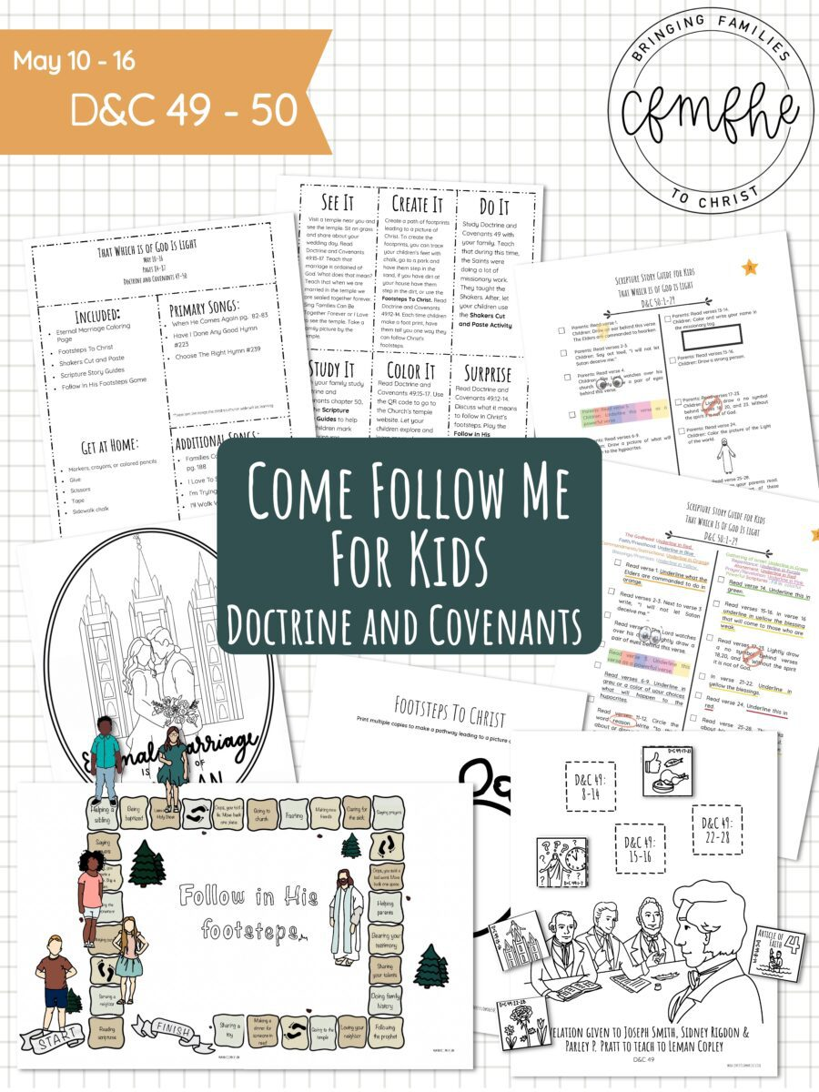 May 10 - May 16 Come Follow Me Lesson for Kids: That Which Is Of God Is Light by Come Follow Me FHE