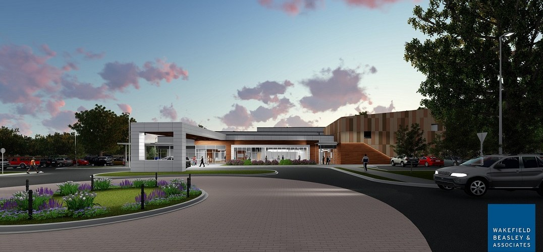 A drawing of the Southwest Intergenerational Center planned for Clayton County