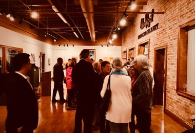 Arts Clayton attendees mingling during event
