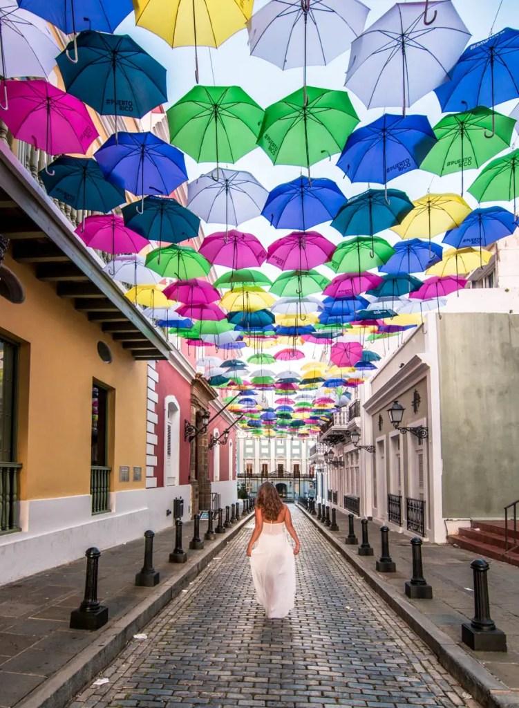 Umbrella Street San Juan - Fortaleza Street