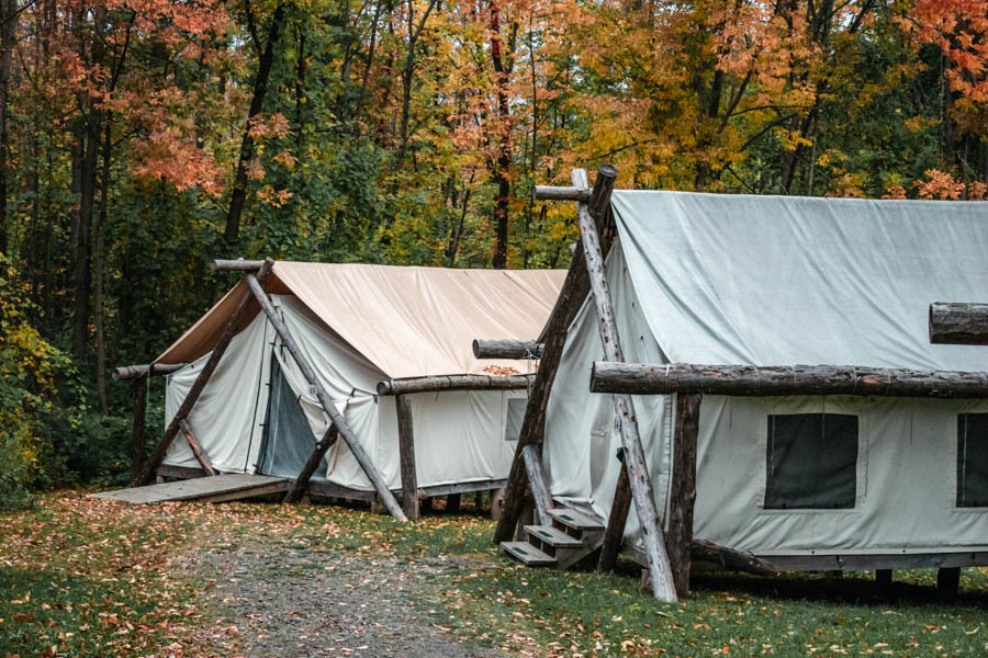 Tents at Firelight Camps in Ithaca