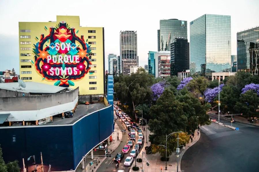 Jacarandas in Mexico City - Paseo de la Reforma Avenue