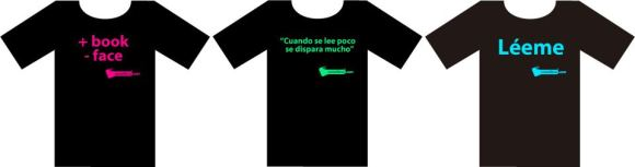 Camisetas prolectura COMELIBROS.COM