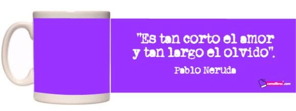 Mug verso de Neruda