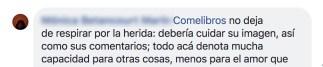 Comentario de Mónica Betancourt.