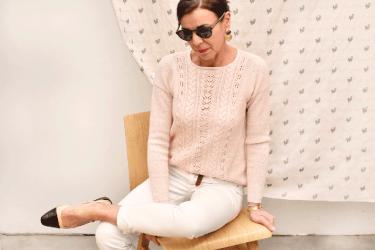cours Je tricote mon pull en dentelle et torsades (2)