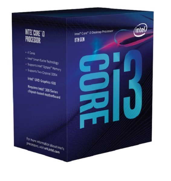 26655 CP INTEL BX80684I38100 1 - MICROPROCESADOR INTEL CORE I3-8100 COFFEELAKE S1151 BOX