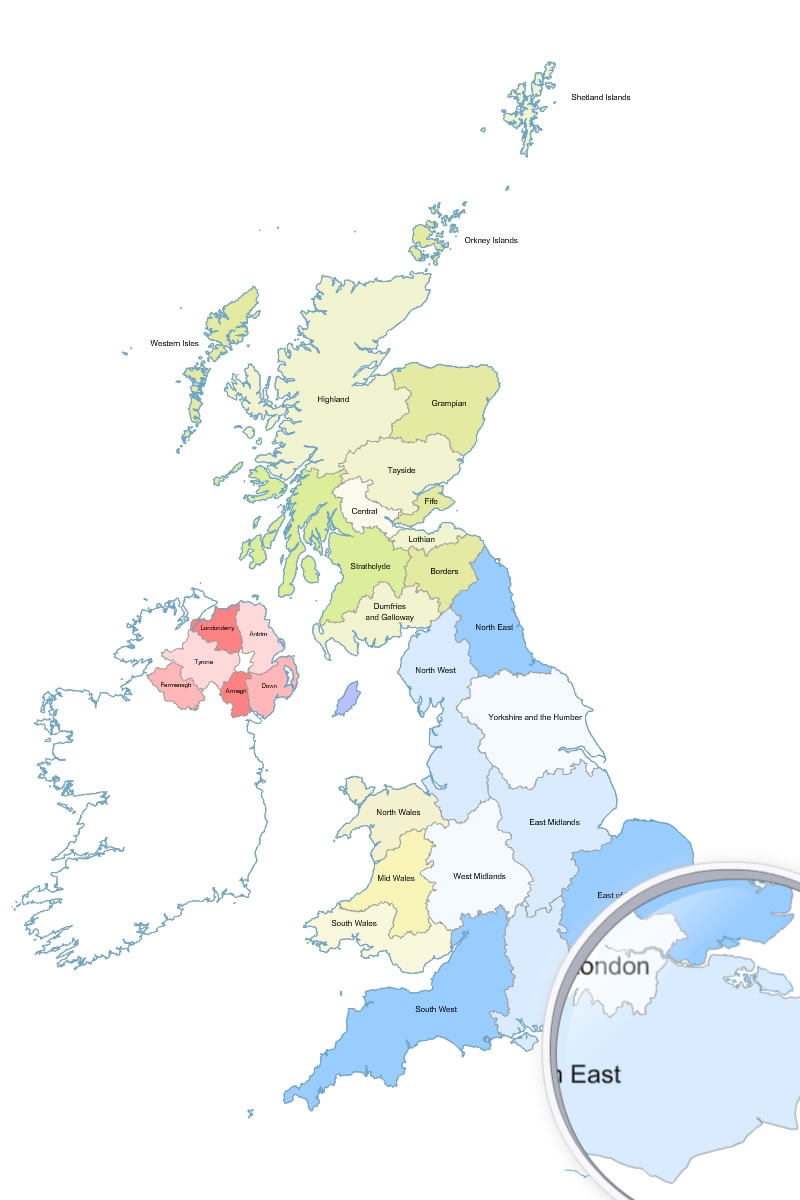 Great Britain Map Outline