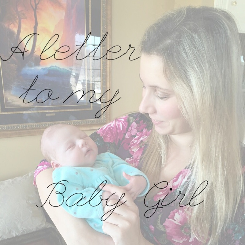 a letter to my baby girl | come save away