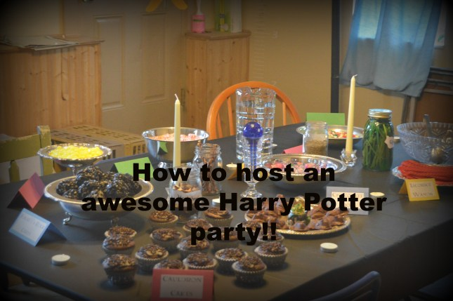 How to host an awesome Harry Potter party!!