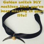 Golden snitch DIY necklace that you've been missing in your life!