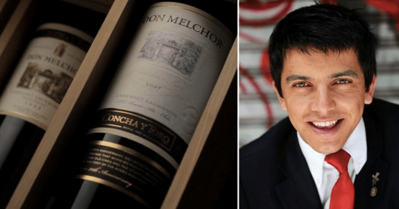 Chile's top somm Marcelo Pino.