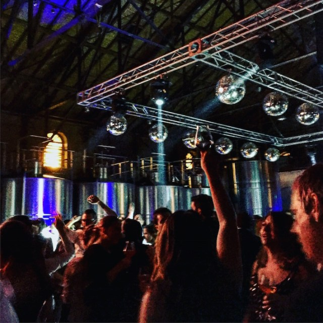 That's 600 somms raving in a winery.