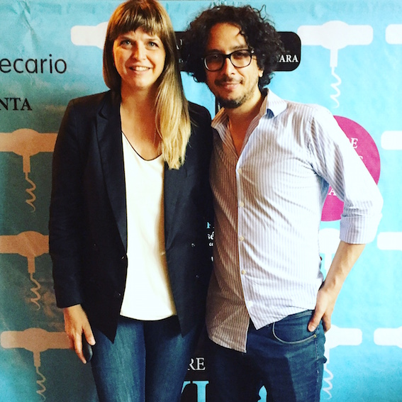 Sommeliers Valeria Mortara and Aldo Graziani.
