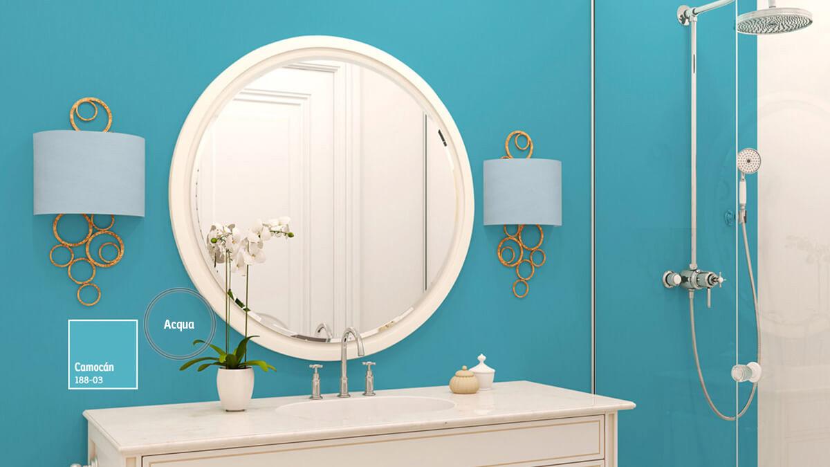Decoracin de espacios con colores Azules  Comex