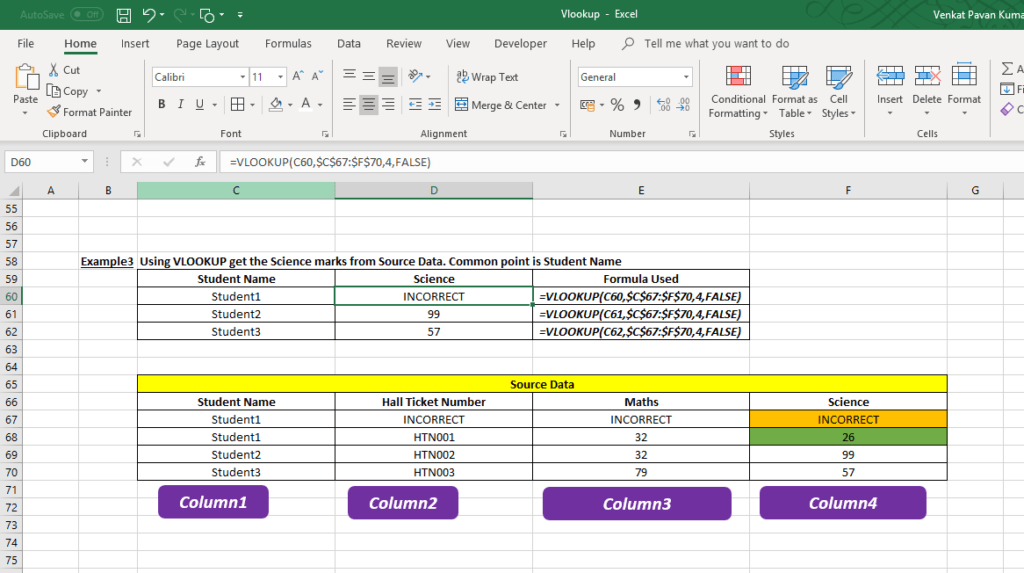 How To use VLOOKUP In Excel   Commerce and Excel Hub