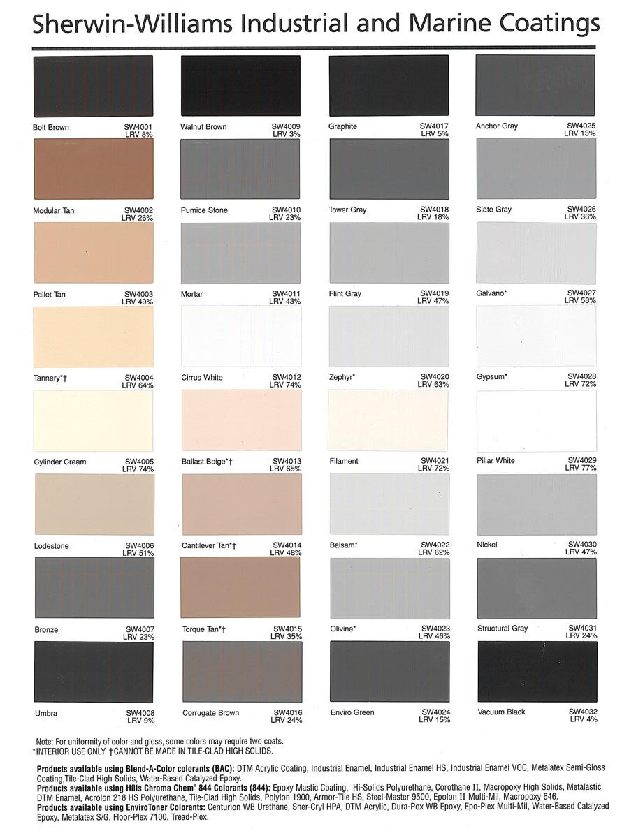 Sherwin Williams Color Chart Epoxy