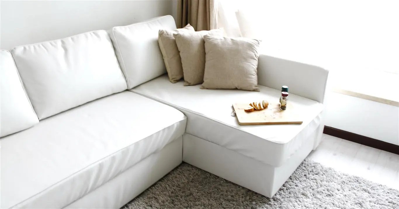 manstad sofa bed carved online india ikea sofabed guide and resource page slipcover in modena white bycast leather