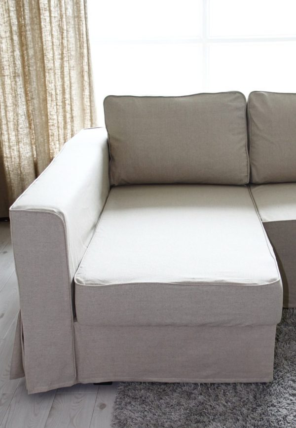 Loose Fit Linen Manstad Sofa Slipcovers