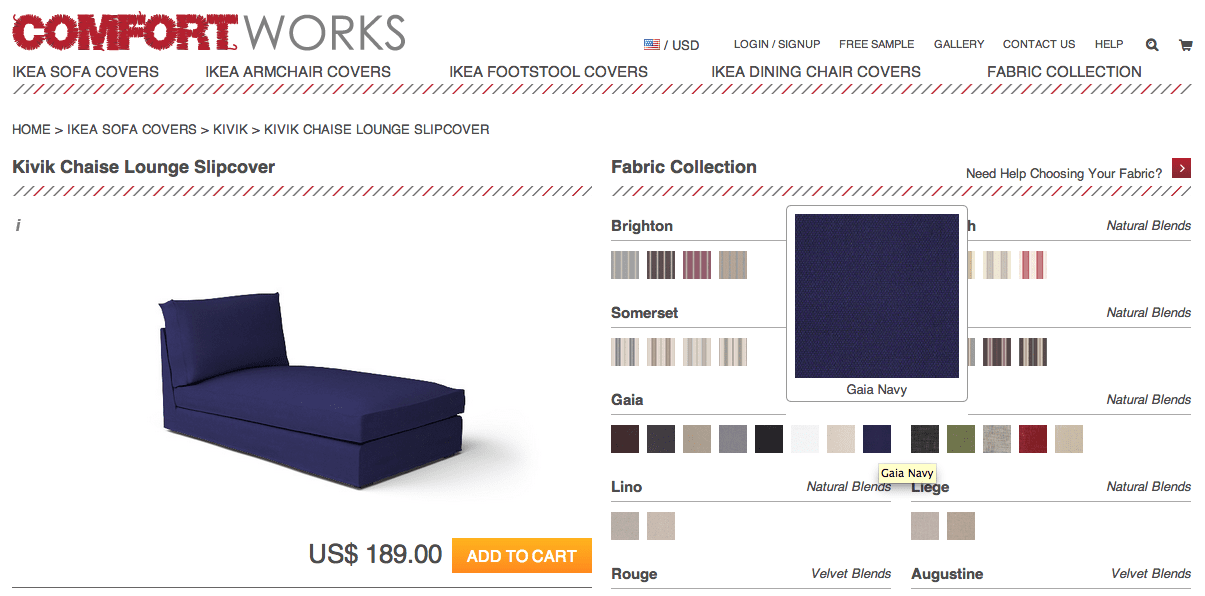 ikea kivik sofa review faux leather gaia navy and rouge indigo - new fabrics from comfort works